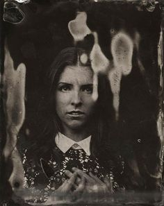American photographer Victoria Will ~ Haunting Celebrities in vintage Tintype Photographs ~ Anna Kendrick ~ A series produced under the Sundance Film Festival 2014.