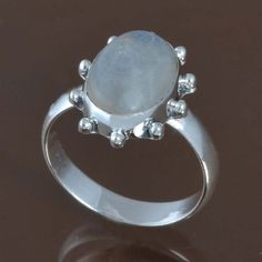 DESIGNER 925 SOLID STERLING SILVER NEW Moonstone RING 4.63g DJR9525 SZ-9 #Handmade #Ring