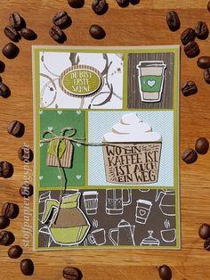 Grußkarte mit dem neuen Kaffee-Set     Hallo Ihr Lieben,     heute dreht sich bei mir alles um Kaffee, ich muss zugeben ich trinke erst sei...
