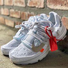 Nike Presto X Off-white by Juampi* Custom Jordans, Custom Sneakers, Presto Shoes, Nike Kicks, Nike Presto, Sports Hoodies, Dream Shoes, White Nikes, Shoe Game