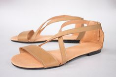 Nude Gypsy Sandals  Women's Shoes  Any Colors  Made to by SHUNAMI, $65.00
