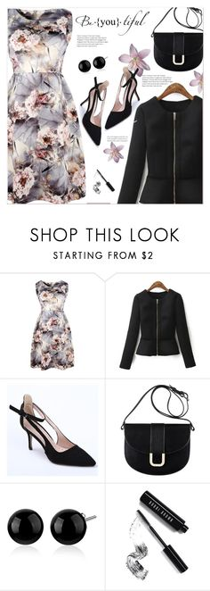 """""""floral dress"""" by polivorka-polivorochka ❤ liked on Polyvore featuring A.P.C., Bobbi Brown Cosmetics, Pumps, dress, coat and twinkledeals"""