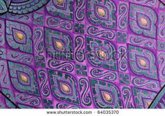 stock photo : Pattern of Thai art wall in temple Thailand