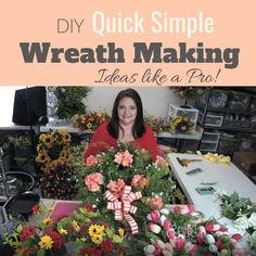 DIY Quick Simple Wreath Making Ideas Like a Pro, from Julie of Southern Charm Wreaths. Tips and techniques that will help to put the ease in your wreath projects!