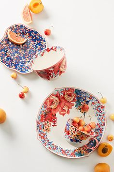 Slide View: 2: Liberty for Anthropologie Wiltshire Garden Side Plate