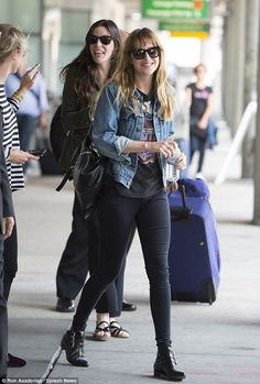 Liv Tyler and Dakota Johnson bump into each other at JFK airport http://dailym.ai/1z2qsJO