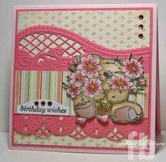 marianne designs card with lr0202 | Marianne Designs die cut card. Gael Browne - I have this die.