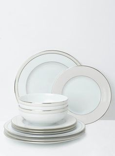 Jolie 12 Piece Dinner Set Dinner Sets, Dinner Table, British Home, China Sets, White Plates, Home Accessories, Tableware, House, Dinning Table