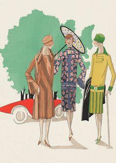1920's Art Deco Cars Fashion & Beauty France Jazz Age