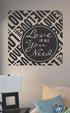 Love is all you need Vinyl Wall Art Decal Sticker JS Artworks http://www.amazon.com/dp/B00NA56LUU/ref=cm_sw_r_pi_dp_Gjleub163WPV4