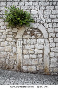 Entrance, Roman, Sidewalk, Display, Stock Photos, Stone, Wall, Floor Space, Entryway