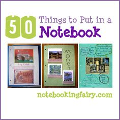50 Things to Put in a Homeschool Notebook
