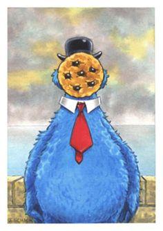 Magritte_Businessman_Sesame Street Muppets_Parody