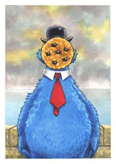 Magritte + Cookie Monster