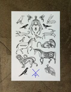 Flash #03. All designs available for tattooing.