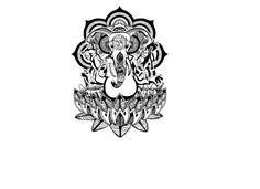 Henna Ganesha Temporary Tattoo