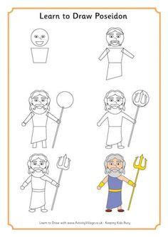 Learn to Draw Poseidon