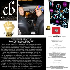 "Honored to be included in Coup Boston Magazine for the Top 25 Visionaries Who ""Changed the Game"" in 2012."