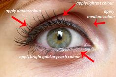 hooded eye--correct way to apply make up for every eye shape