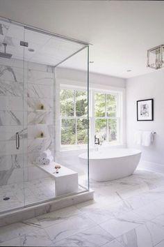 marble tile like nicole had suggested Small Master Bathroom Remodel Ideas (6) #CooInteriorPlanningTips #BathroomRemodeling