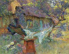 Henri-Gaston Darien (French, 1864-1926) - A lazy afternoon