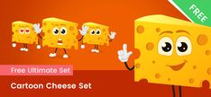 A cartoon cheese character made in a set of 6 different poses. Our Cheese character is made in a modern flat style with gradients. Cartoon Chef, A Cartoon, Vector Characters, Free Vector Clipart, Action Poses, Pikachu, Character Design, Clip Art, Student