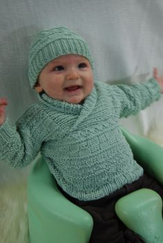Busy Baby Boy Sweater & Hat | Brown Sheep Company, Inc.
