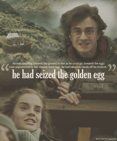 Harry Potter had seized the golden egg. Wiki Harry Potter, Harmony Harry Potter, Harry Potter Feels, Harry James Potter, Harry Potter Jokes, Harry Potter Pictures, Harry Potter Universal, Harry Potter Fandom, Harry Potter Characters