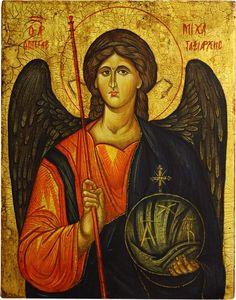 Archanioł Michał - ikona bizantyńska. Więcej na: http://www.pracowniatemper.pl/sklep/224-archaniol-michal-ikona-bizantynska