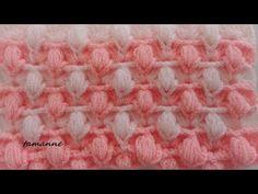 Farklı Bir Lif Modeli - YouTube Crochet Stitches Chart, Crochet Stitches Patterns, Crochet Designs, Stitch Patterns, Baby Boy Crochet Blanket, Knitted Baby Blankets, Crochet Baby, Knitting Videos, Loom Knitting