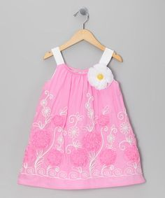 Take a look at this Pink Floral Embroidered Dress - Toddler & Girls by cachcach on #zulily today!