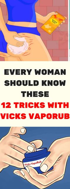 Every Woman Should Know These 12 Tricks With Vicks VapoRub - Tips for Healthy Health And Beauty, Health And Wellness, Wellness Quotes, Health Advice, Wellness Tips, Uses For Vicks, Vicks Vaporub Uses, Lose Weight, Weight Loss