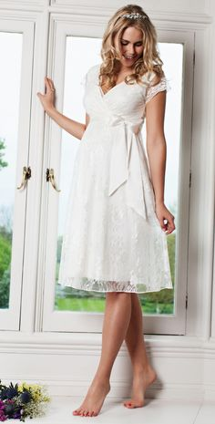 Eden Maternity Gown Short (Ivory Dream) - Maternity Wedding Dresses, Evening Wear and Party Clothes by Tiffany Rose.