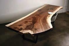 Urban Hardwoods, with shops in Seattle, San Francisco, and Los Angeles, is a good source for live-edge tables.