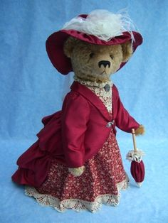Teddy Bear 'Lady Constance' Handmade by Bumble Bears www.bumblebears.co.uk