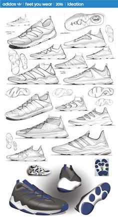 dd0efe7c26 Adidas Originals  Project 1 on Behance Sneakers Sketch