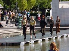 Stockholm's Kungsträdgården fills its annual calendar with plenty of programming for all types of visitors. A permanent stage with all requisite sound and lighting equipment allows privately devised and sponsored events possible, like this runway show pictured above. Talk about a platform for community participation! #Placemaking #LQC