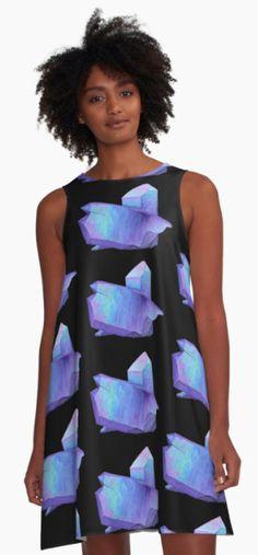 Purple crystal amethyst a-line dress.  Shop here: http://www.redbubble.com/people/marianamello/works/23611054-purple-crystal-amethyst-angel-aura-quartz-geode?asc=u&p=a-line-dress&rel=carousel