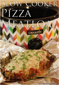 This Slow Cooker Pizza Meatloaf is a simple slow cooker meatloaf recipe with a fun Italian spin!