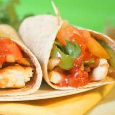 Fajitas au tilapia et aux légumes