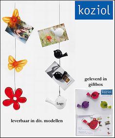 100x Koziol foto/memo koord relatiegeschenken als kunst in uw huis