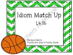 Idiom Match Up from Fourth and Goal in Fourth Grade on TeachersNotebook.com -  (18 pages)  - This product will help your students practice idioms.  CCSS L.4.5b