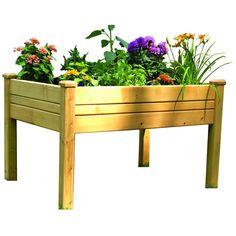 3 ft. x 4 ft. Cedar Raised Garden Table, Natural