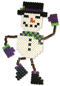 I like the arms & legs.  Will try this if we make bead ornaments again for Christmas.