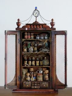 Speak Without My Voice Aetheric Alchemy Cabinet Apothecary Vintage Curio Cabinet Etsy .