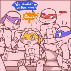 Aw...good brother Donnie <3 and I like how raph is trying to calm him down <3 ¥