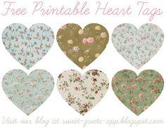 Free Printable Heart Tags