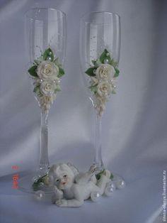 taça decorada com mini rosas - Pesquisa Google                                                                                                                                                     Mais