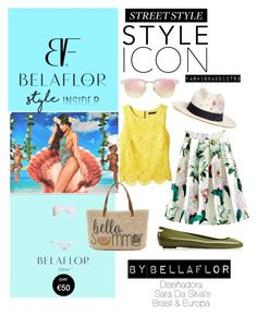 """""""Belaflor brasil"""" by mar-quintana on Polyvore featuring moda, Straw Studios, Sensi Studio, Ray-Ban, WithChic, Etcetera y Kartell"""