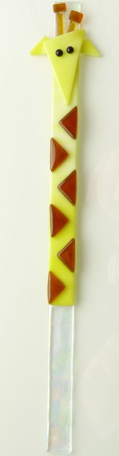 This Giraffe of Fused Glass is the Cutest Accent for your by Wonza, $7.00